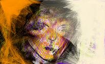 Frau, Licht, Malerei