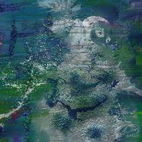 Frau, Wasser, Malerei