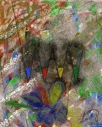 Malen, Freude, Malerei, Digitale malerei