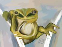 Frosch, Malerei,