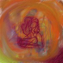 Geborgenheit, Malerei