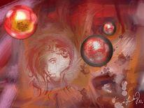 Gefangen, Licht, Malerei, Digitale malerei
