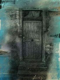 Geheimnis, Tür, Digitale kunst, Digitale malerei