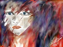 Gesicht, Farben, Malerei, Menschen