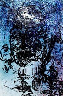Gedanken, Kreisende, Malerei