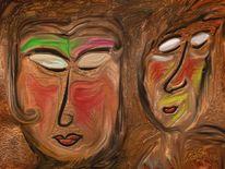 Maske, Malerei