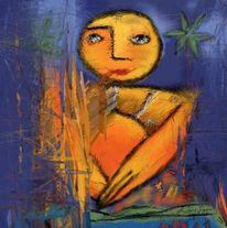 Meditation, Frei, Malerei