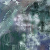 Schatten, Menschen, Licht, Malerei