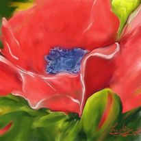 Mohn, Malerei, Blumen