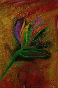 Kokardenblume, Malerei, Blumen
