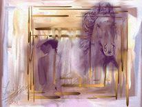 Pferdelady, Malerei