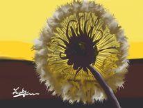 Pusteblumen, Malerei, Blumen