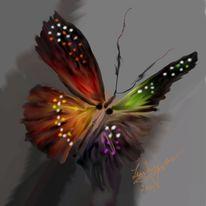 Schmetterling, Freundschaft, Malerei, Digitale malerei