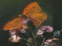 Harmonie, Malerei, Digitale malerei, Schmetterling