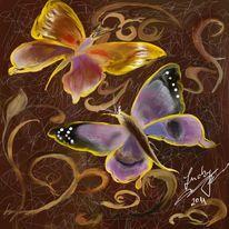 Mut, Schmetterling, Kraft, Malerei