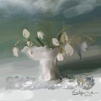 Schneeglöckchen, Malerei, Blumen