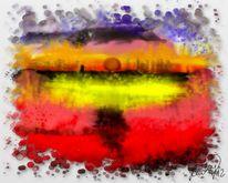 Sonnenaufgang, Malerei