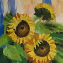 Sonnenblumen, Malerei, Blumen