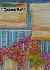 Spanisch, Luft, Malerei, Der anfang