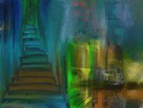 Treppe, Hafen, Malerei