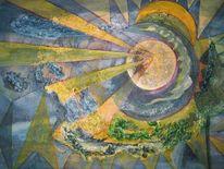 Universum, Malerei, Der anfang