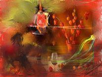Ruhe, Digitale kunst, Stillleben,