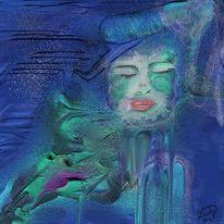 Wasserpflanze, Malerei