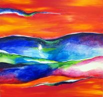 Fantasie, Formen, Acrylmalerei, Farben