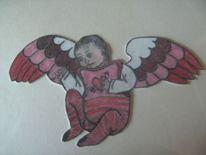 Stimmung, Engel, Baby, Aufkleber