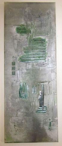 Abstrakt, Grün, Schimmer, Modern