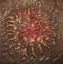 Blumen, Gold, Struktur, Rot