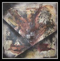 Modern, Gabelung, Weg, Ölmalerei