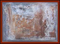 Ölmalerei, Kupfer, Struktur, Abstrakt
