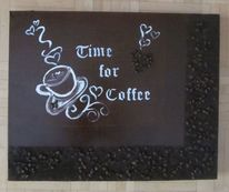 Kaffeesatz, Kaffee, Braun, Bohne