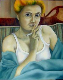 Rauchen, Malerei, Figural