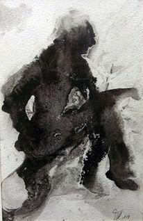 Abstrakt, Fantasie, Aquarell, Menschen