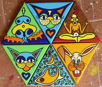 Triangles, Lidl, Katze, Hase