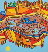 Malta, 3cities, Delfin, Malerei