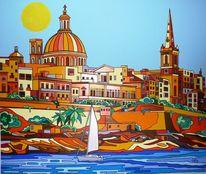 Malta, Birgu, Hafen, Valletta
