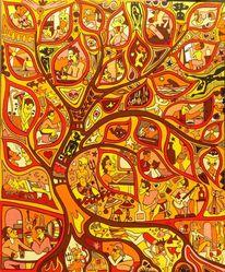 Leben, Baum, Malerei