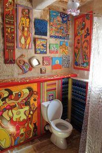 Badezimmer, Forn, Klo, Hostel
