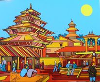 Kathmandu, Nepal, Malerei