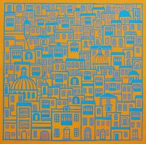 Malta, Stadt, Orange, Blau