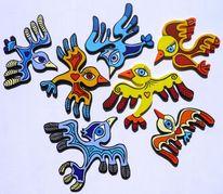Vogel, Bunt, Fliegen, Farben