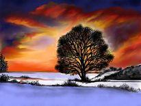 Malerei, Winterabend
