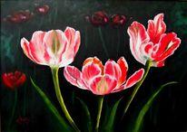 Flora, Stillleben, Ölmalerei, Blumen