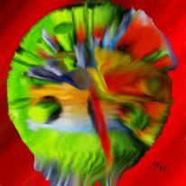 Digital, Bunt, Abstrakt, Digitale kunst