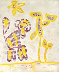 Malerei, Giraffe, Afrika