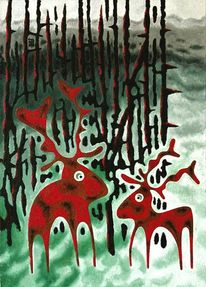 Malerei, Wald, Zauber