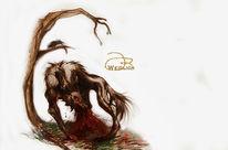 Tiere, Wolf, Bestie, Monster